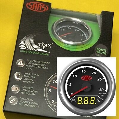 AU127.66 • Buy 52mm Boost 30PSi + EGT Pyro 0-900 Gauge Dual Digital/analogue SAAS Trax 2  Black