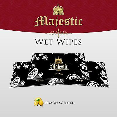 100 X WET HAND WIPES TOWEL LEMON SCENTED INDIVIDUALLY WRAPPED • 16.48£