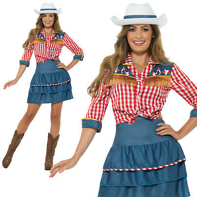£21.39 • Buy Rodeo Doll Costume Cowgirl Adult Womens Ladies Wild West Fancy Dress Outfit