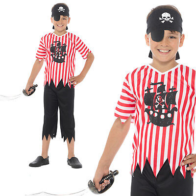£7.11 • Buy Jolly Pirate Boy Costume Childrens Boys World Book Day Week Fancy Dress Outfit