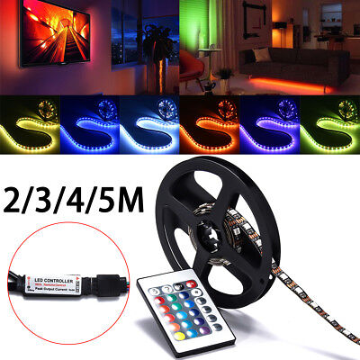 $9 • Buy LED Strip Light 5050 SMD RGB Bar TV Back Lighting Kit + USB Remote Control DC 5V