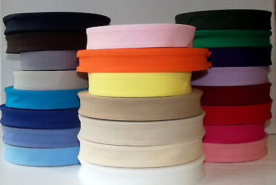 Bias Binding Tape 100% Plain Cotton 25mm Wide 2 3 5 Or 10m Lots Of Colours • 2.10£