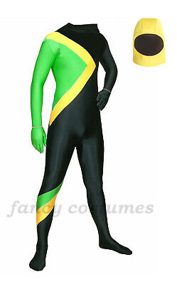 £18.99 • Buy Jamaican Bobsled Team Cool Fancy Dress Costume Jamaica Bobsleigh Running Outfit