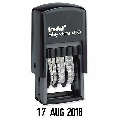 £5.85 • Buy Date Stamp - Self Inking Rubber Stamp - Mini Dater 4810 - Trodat - 70169 2021