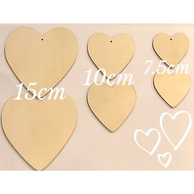 £3.50 • Buy Wooden Heart Shapes, Wedding, Craft, Embellishments, Plaques