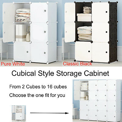 AU36.99 • Buy DIY 4/8/9/12 Cube Storage Kid Cabinet Wardrobe Toy Book Rack Book Shelve RBM
