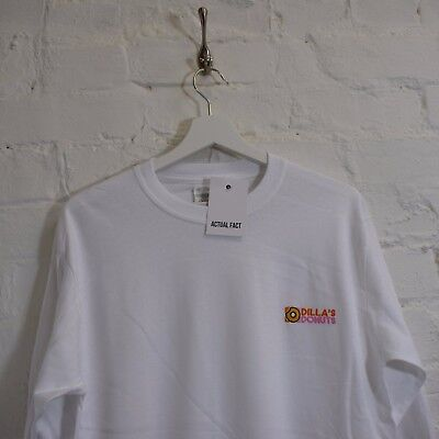 Dillas Donuts Hip Hop J Dilla White Long Sleeve Tee T-shirt By Actual Fact • 21£