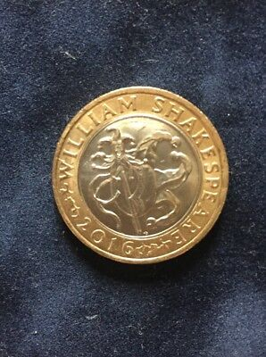 2016 William Shakespeare £2 Two Pound Coin Jester Hat • 500£