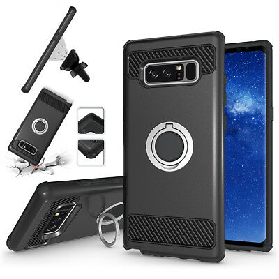 $ CDN5.85 • Buy For Samsung Galaxy Note 8 Dual Layer IRing Hard Back Magnetic Circle Case Cover