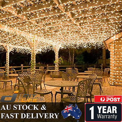 AU30.59 • Buy 500LED 100M Warm Cool White Fairy Christmas String Strip Lights Party Outdoor