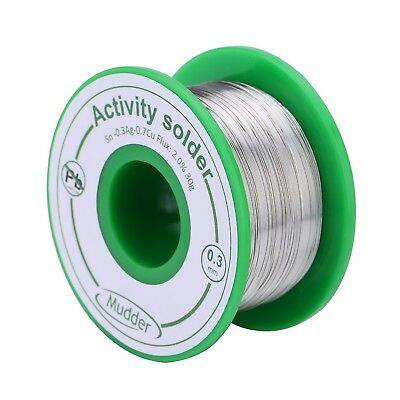 $13.80 • Buy Mudder 0.3 Mm Lead Free Solder Wire Sn99 Ag0.3 Cu0.7 With Rosin Core For Elec...