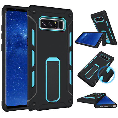 $ CDN7.85 • Buy For Samsung Galaxy Note 8 Blue Ultra Rubber Stand Heavy Duty Hard Case Cover