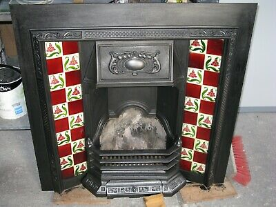 £395 • Buy Victorian Edwardian Cast Iron Tiled Fire Place