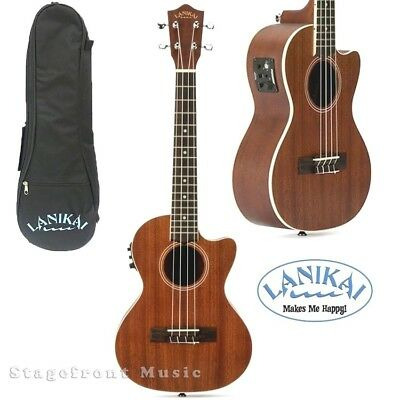 AU335 • Buy LANIKAI LMACET MAHOGANY SERIES *new Model* TENOR ACOUSTIC/ELECTRIC UKULELE