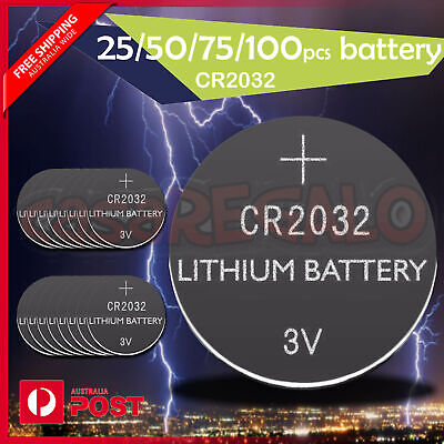 AU5.94 • Buy CR2032 3V LITHIUM CELL Button BATTERY BATTERIES 5004LC 2032 ECR2032 25/50/75/100