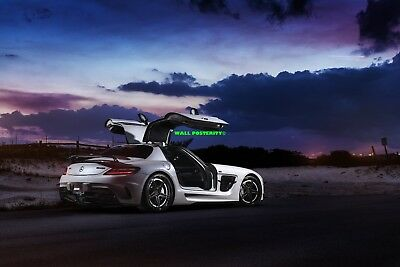A 2013 MERCEDES BENZ SLS 63 AMG Tuning Motorsports CAR POSTER Multiple Sizes