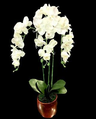 AU49.95 • Buy New 70cm Orchid Potted Phalaenopsis 3 Orchid Artificial Flower Garden Home Decor