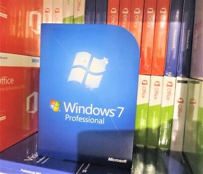 Microsoft Windows 7 Professional (used) 32/64-bit Dvd Fqc-00133 100% Genuine Uk • 129.99£