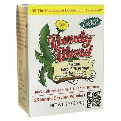 $11.54 • Buy Dandy Blend Instant Herbal Beverage With Dandelion-Single Serve Pouches 25 Ct.