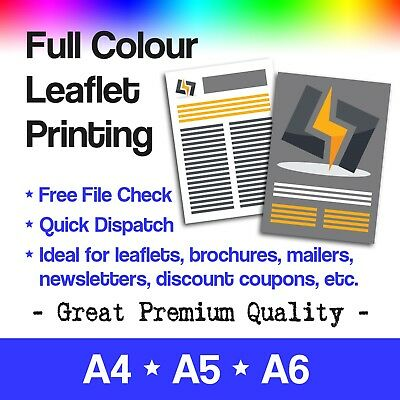 £12.90 • Buy Full Colour Leaflets And Flyers Printed - A4, A5 And A6 Printing FROM £9.99
