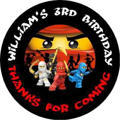 $4.50 • Buy Lego Ninjago Personalized Birthday Party Round Stickers Favors Labels  All Sizes
