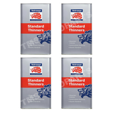 £37.02 • Buy 20 Litres (4x5L) Standard Cellulose Thinners 5 Gun Cleaner Paint Primer Tetrosyl