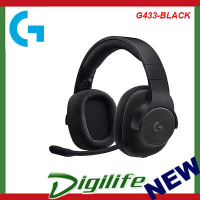 AU159 • Buy Logitech G433 Wired Gaming Headset With DTS Headphone 7.1 X Surround Sound Black