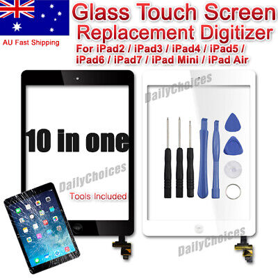 AU27.35 • Buy IPad 2/3/4/ Air1/Mini1 Digitizer Front Touch Screen Glass Replacement+Tools AU