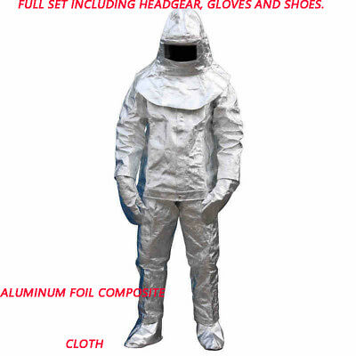 1pcs 175 Thermal Radiation Degree Heat Resistant Aluminized Suit Fireproof Cloth • 150.99$