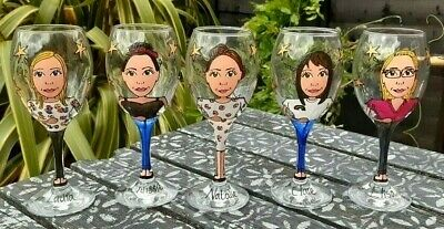 Hand Painted Personalised Birthday Wine Gift Glass 18th 21st 30th 40th 50th 60th • 12.99£