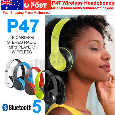 AU18.45 • Buy Noise Cancelling Wireless Headphones Bluetooth 4.2 Earphone Headset With Mic Hot