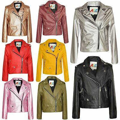 Kids Jackets Girls Designer's PU Leather Jacket Zip Up Biker Coats 7-13 Years • 19.99£