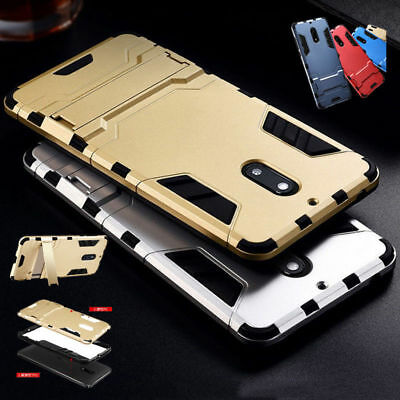 AU5.90 • Buy Shockproof Rugged Heavy Duty Armor Hybrid Hard Stand Case Cover For Nokia 5 6 8