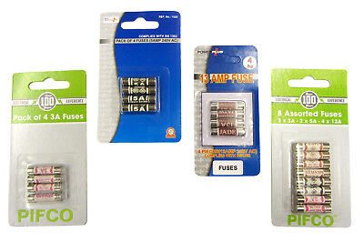 3amp 5amp 13amp Fuse Assorted Mix Universal Household Mains Plug Replacement • 1.95£