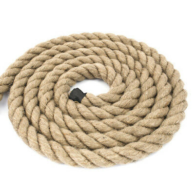 32mm 100% Natural Jute Rope Twisted Decking Cord Garden Boating Sash Camping 32 • 30.78£