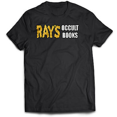 £5.95 • Buy Ghostbusters Inspired Rays Occult Books 80s 90s Film Movie Cult Horror T Shirt