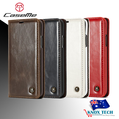 AU17.99 • Buy Magnetic Flip Leather Case Cover For Samsung Galaxy S8 | S8 Plus  Card Wallet