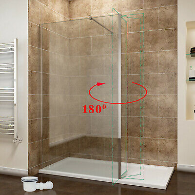 £233.99 • Buy Nano Glass Walk In Shower Enclosure Room And Tray&Waste Flipper Panel Cubicle