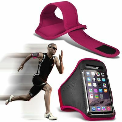 Quality Armband Phone Case✔Sports Exercise Gym Running Fitness Workout✔Hot Pink • 4.95£