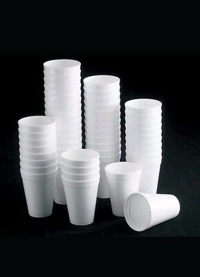 200 X Disposable Foam Cups Polystyrene Coffee Tea Cups For Hot Drinks 10oz • 11.49£
