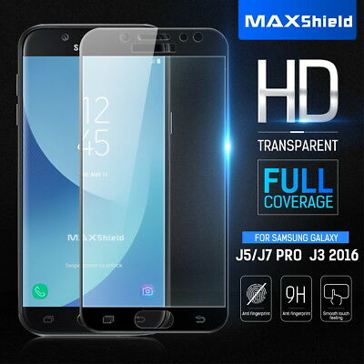 AU7.99 • Buy Full Cover Tempered Glass Screen Protector For Samsung Galaxy J5 J7 Pro Prime