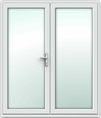 White UPVC French Doors / Patio Doors / Made To Measure / Fast Delivery • 355£