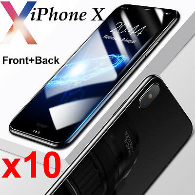 AU22.99 • Buy 10pcs Anti-scratch 4H PET Film Screen Protector Apple IPhone X Front And Back