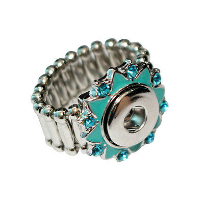 $ CDN22.78 • Buy Wholesale Lots Vintage Silver Ring Strech Adjustable Band Fit 12mm Snap Buttons