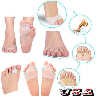 $7.21 • Buy Silicone Corrector Relief Gel Toe Separator Hammer Toe W/ Forefoot Pad US SHIP