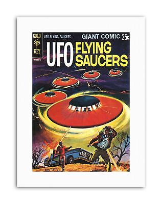 COMIC BOOK COVER UFO FLYING SAUCERS ALIEN SCI FI Canvas Art Prints • 12.50£
