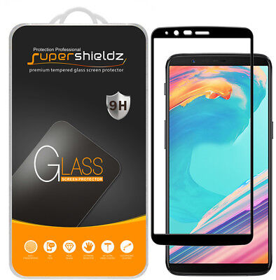 AU12.10 • Buy 2xSupershieldz For OnePlus 5T Full Cover Tempered Glass Screen Protector (Black)