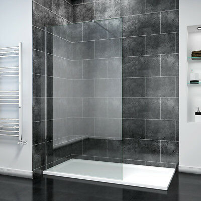 Modern Walk In Shower Enclosure Room 8mm Panel Easy Clean Glass Cubicle And Tray • 174.99£