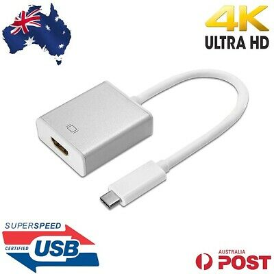 AU15.95 • Buy USB C Type C To HDMI Cable 4K UHD Adapter For Thunderbolt 3 Galaxy S10 S9 Note 9