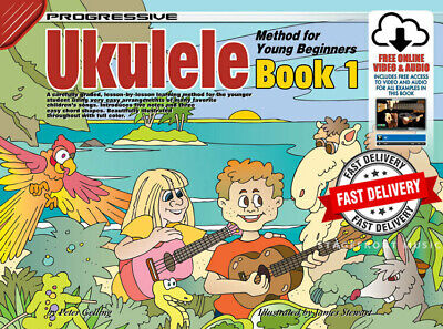 AU22.90 • Buy Progressive Ukulele Method For Young Beginners With Online Media Children's Book